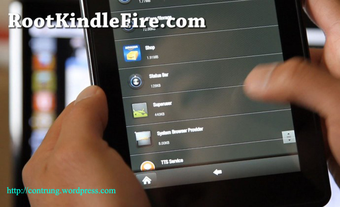 hướng dẫn root kindle fire