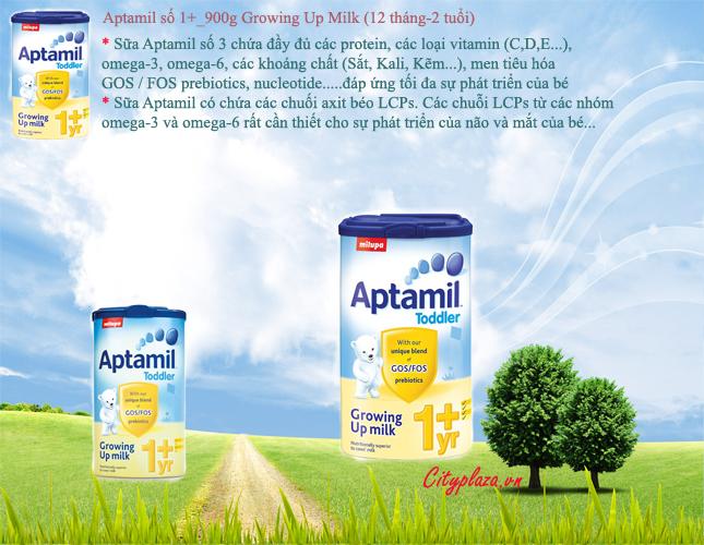 Sữa Aptamil 1+ hộp 900g - Sản phẩm nhập khẩu từ Anh Quốc