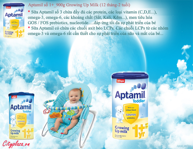 Aptamil Toddler - Aptamil-1-year-Sữa Aptamil 1+ hộp 900g - Xuất xứ Anh Quốc
