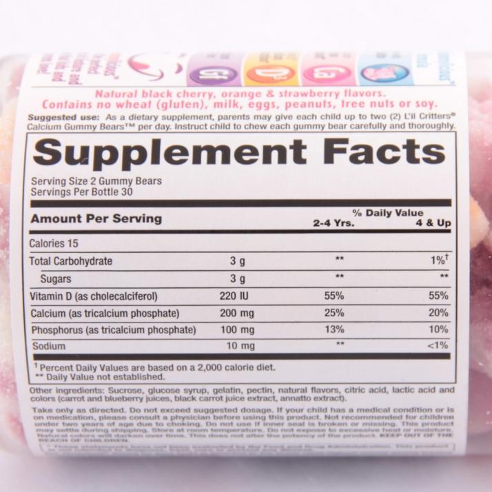 Kẹo gummy bear 200v - thành phần của kẹo