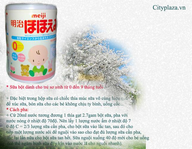 sữa meiji số 0- 850g - Sản phẩm của nhật bản