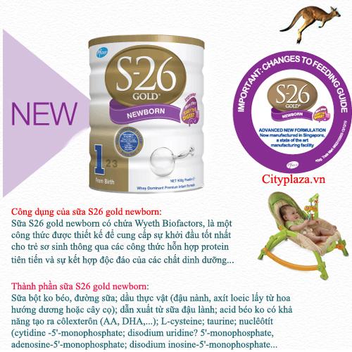 Sữa S26 gold newborn-Sữa S26 gold số 1 - xuất xứ Australia
