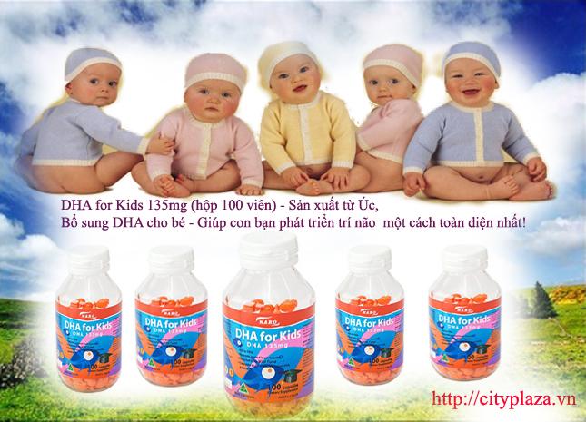 DHA for Kids 135mg (hộp 100 viên) - Úc hotrosuckhoe