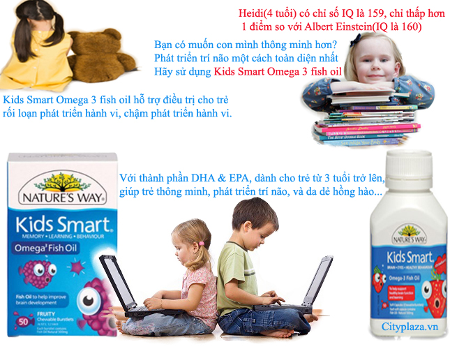 Kids smart Omega 3 fish oil 50v - hotrosuckhoe.com.vn