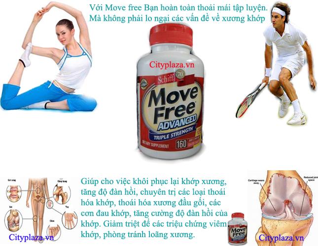 Thực phẩm chức năng Move free - thực phẩm chức năng điều trị xương khớp